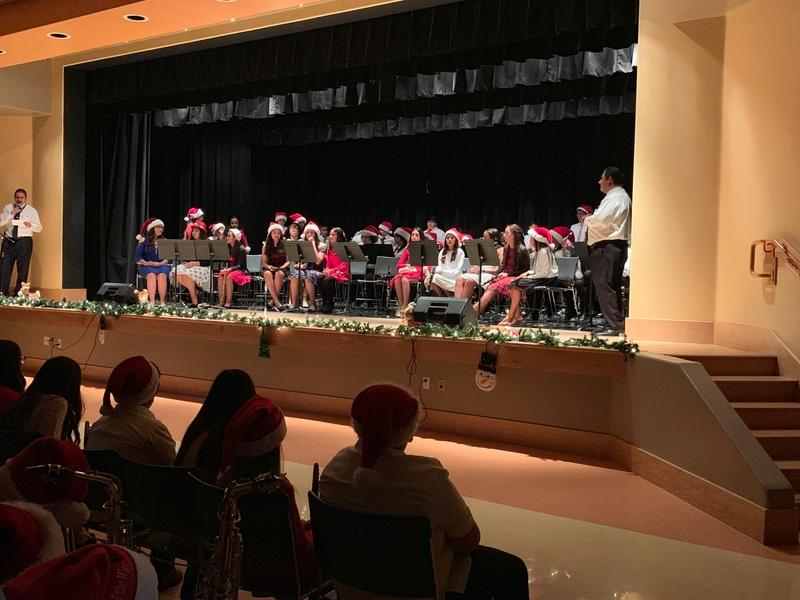 McCabe's Beginner, Intermediate, and Advanced Band held a captive audience at their December 12th Christmas concert. Thumbnail Image