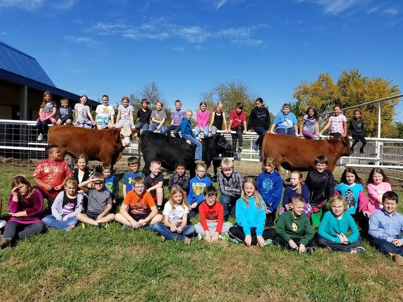Bluestem Elementary Ag Program selling raffle tickets for beef. Thumbnail Image
