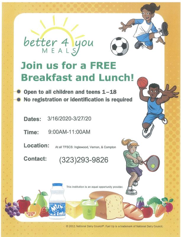 Free Breakfast  Lunch