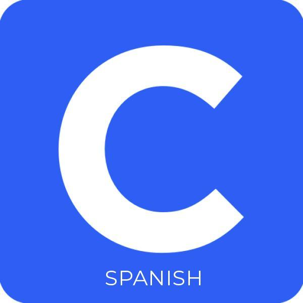 "Clever logo, the letter ""C"" inside a blue box"