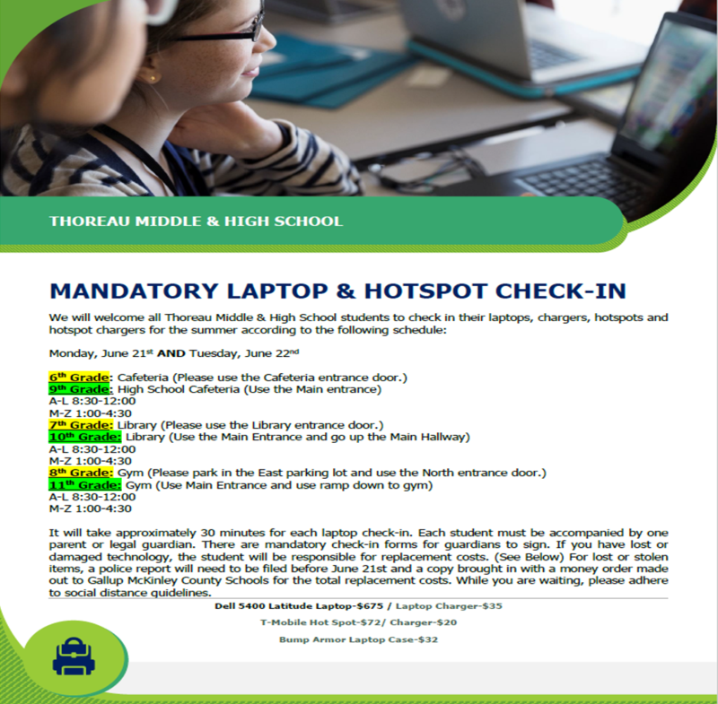 Laptop and Hotspot Check In Information Featured Photo