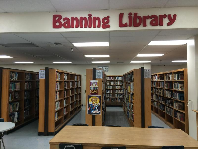 Checking out Textbooks and Library books at Banning High School Featured Photo