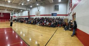 Panoramic shot of gym