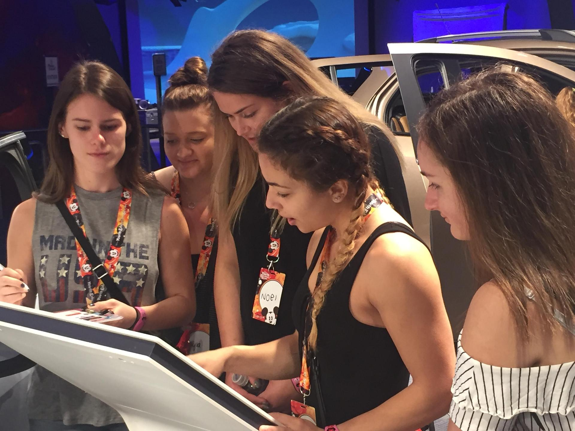 Students learn about fuel economy at Disney's EPCOT