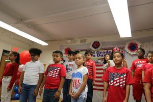 group of children singing