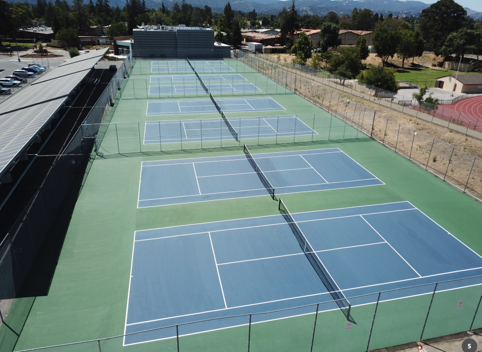 new tennis courts at westmont high school