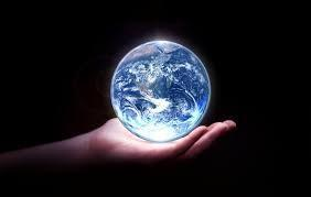 Hand with The world in it