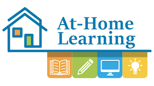 flyer of kids learning at home