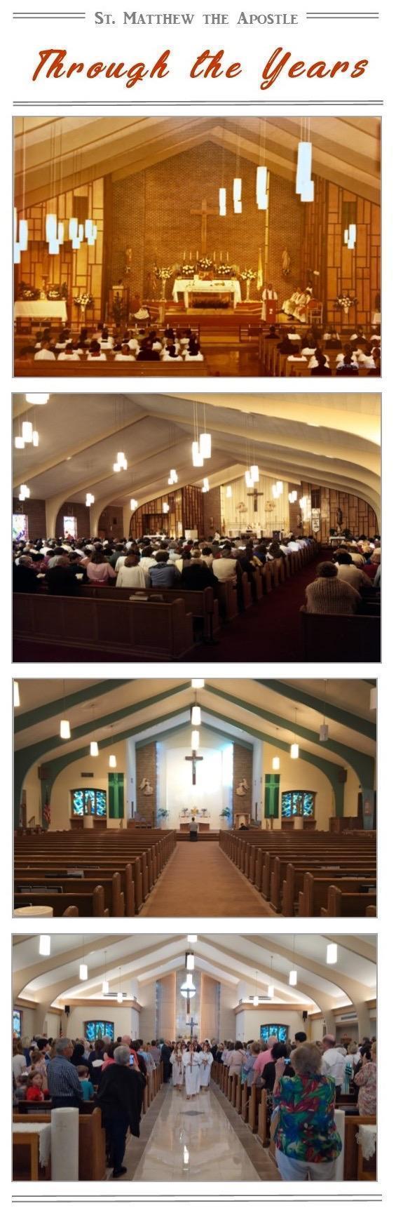 St. Matthew Church through the years.