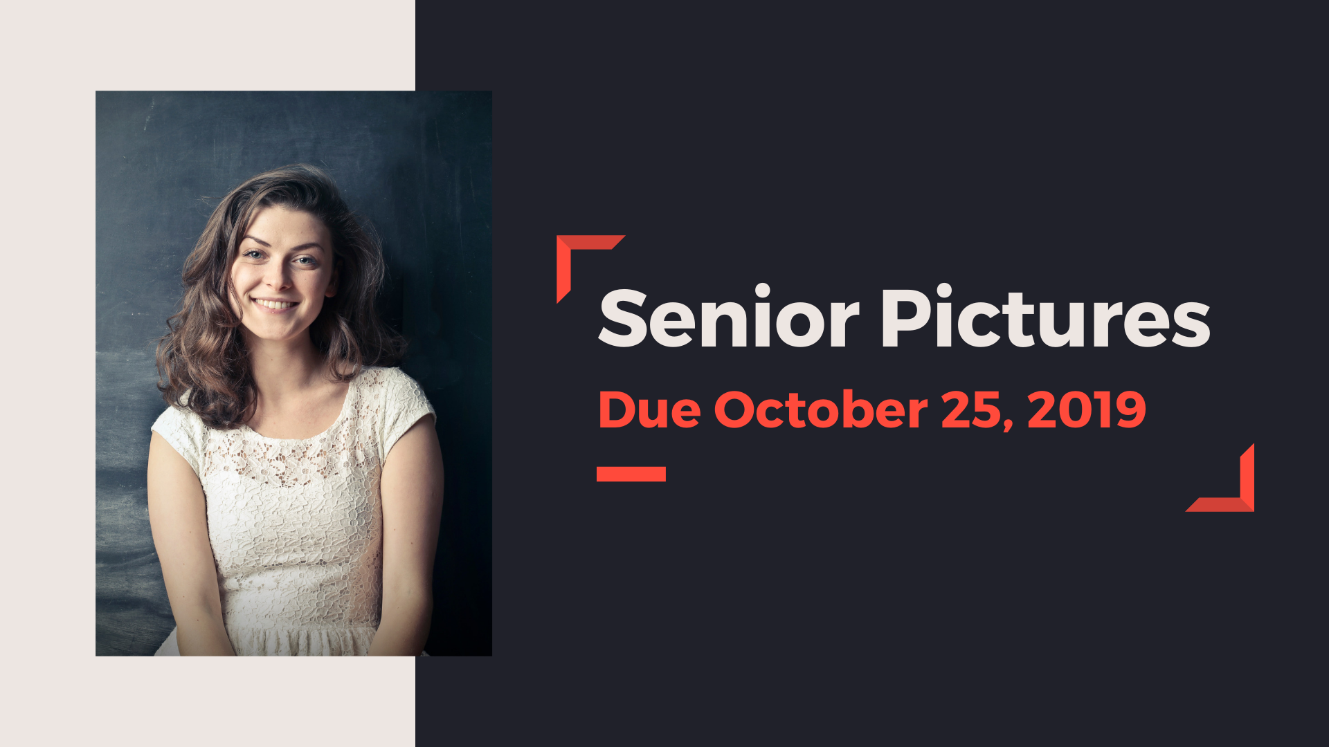 senior photo due date