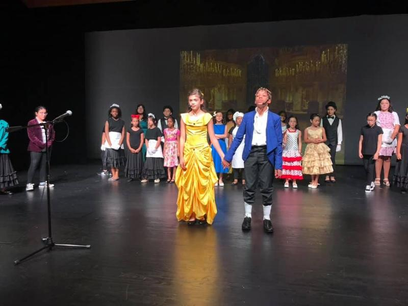 belle and the prince sings amongst the characters