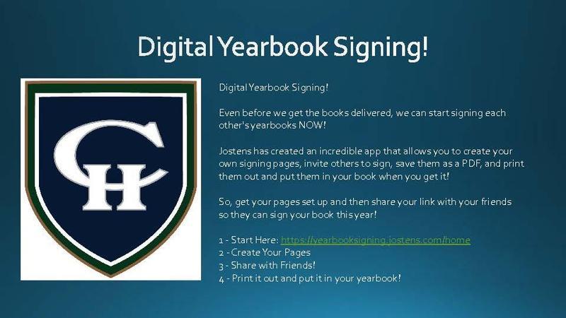 Digital Yearbook Signing!