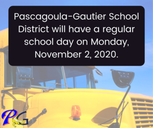 PGSD will reopen November 2nd.