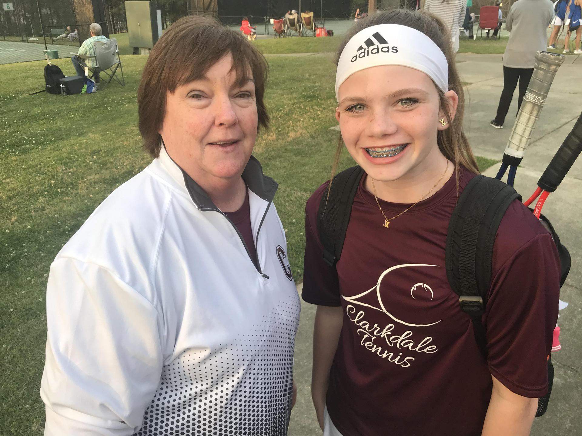 CHS Tennis Advisor and Athlete