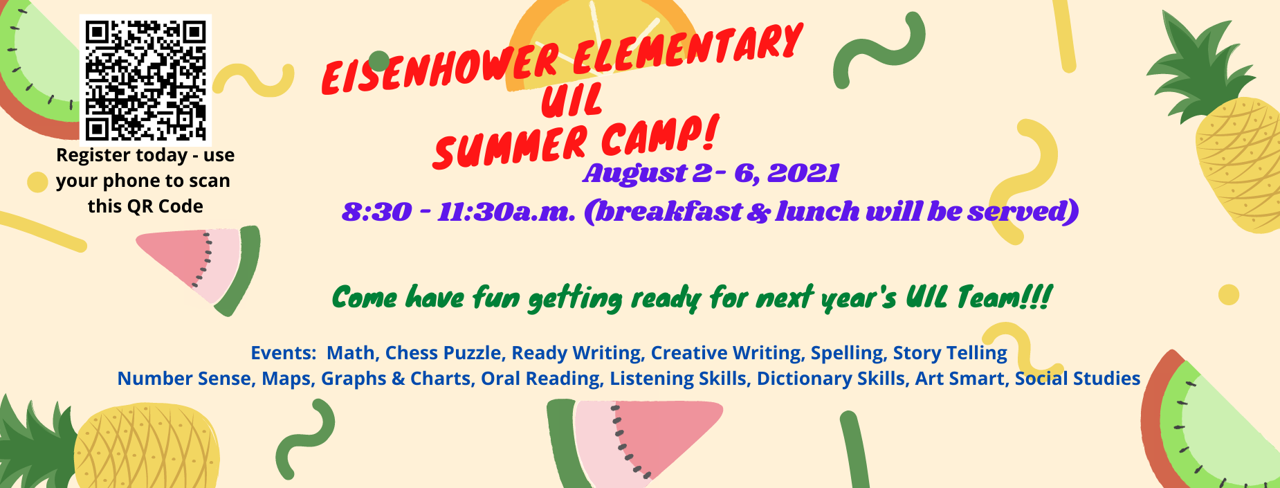 Image of UIL Camp flyer