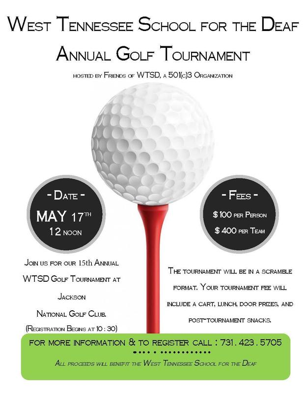 WTSD Golf Tournament Flyer