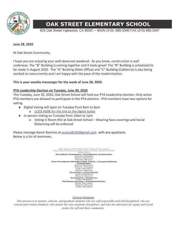 Weekly Messenger 6-28-2020