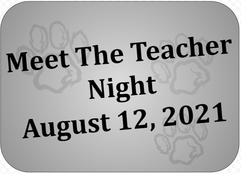 meet the teacher night august 12, 2021