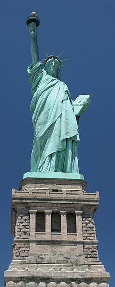 'Give me your tired, your poor, Your huddled masses yearning to breathe free, The wretched refuse of your teeming shore. Send these, the homeless, tempest-tost to me, I lift my lamp beside the golden door!'