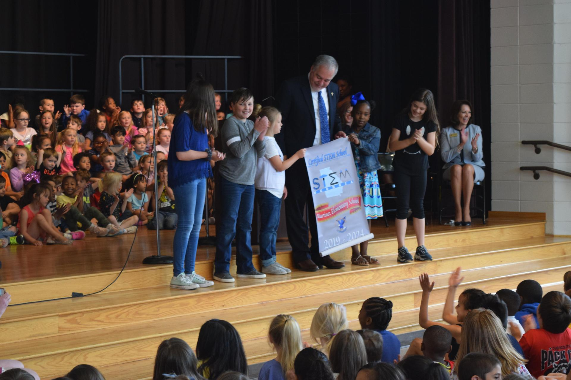 Assembly at Martinez Elementary School