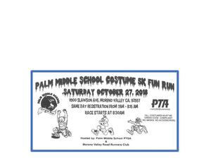 Palm Puma Fun Run Flyer