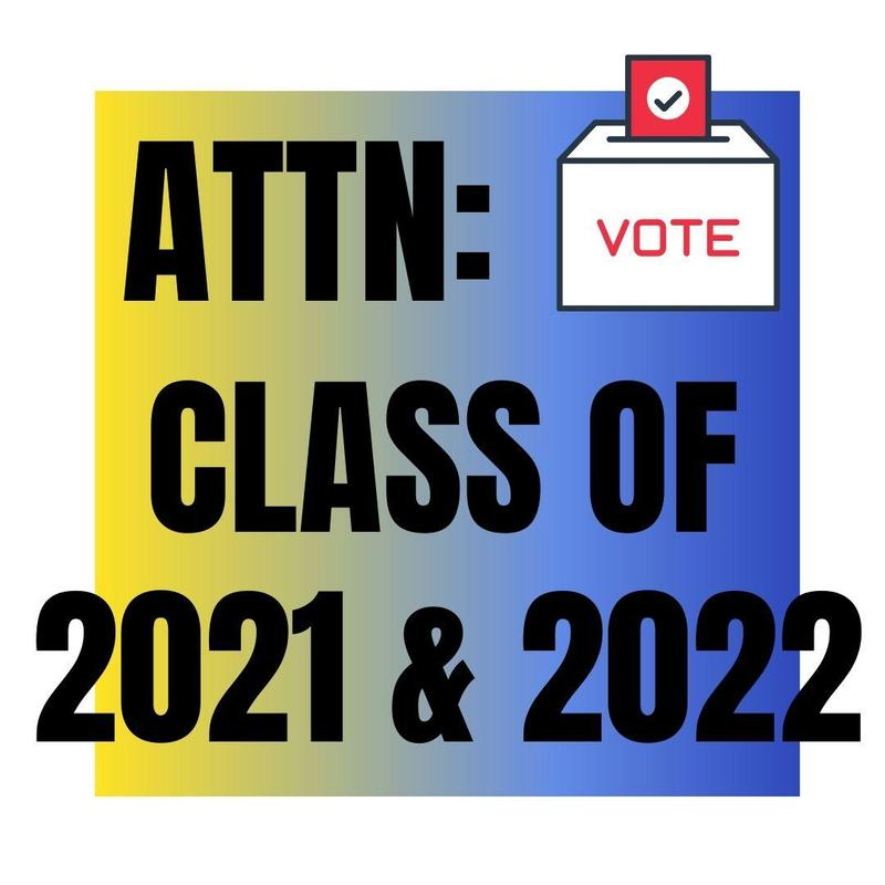 Class of 2021 and 2022 Thumbnail Image vote for next school year's class officers has opened until May 7th! Links to vote are in the description of this post!