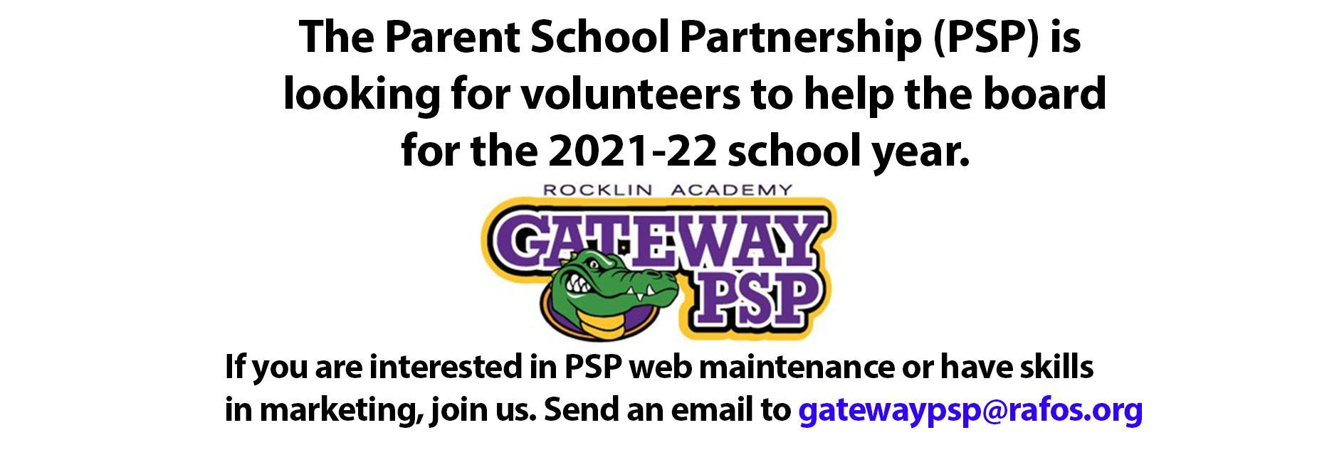 Join the PSP board in 21-22