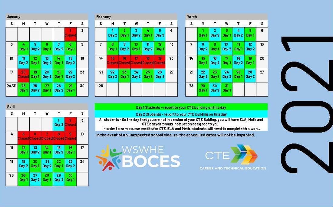 Day1/Day2 2021 Calendar