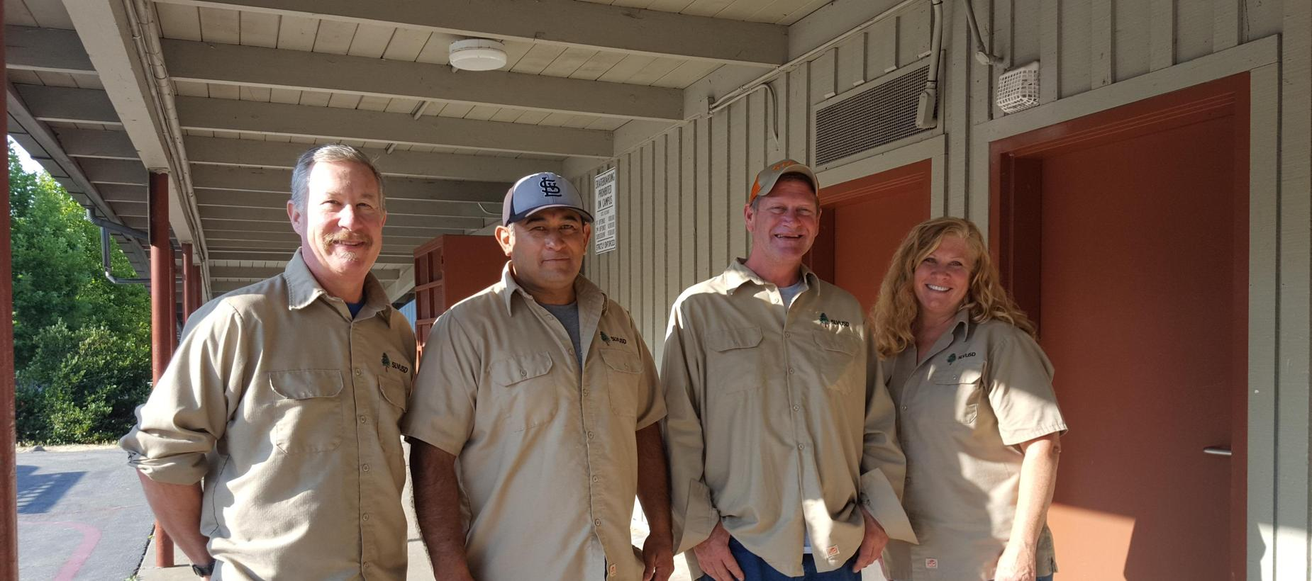 Director Erik Slaughter and Maintenance Staff