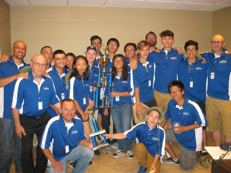 Staten Island Solar Team with their second place trophy.