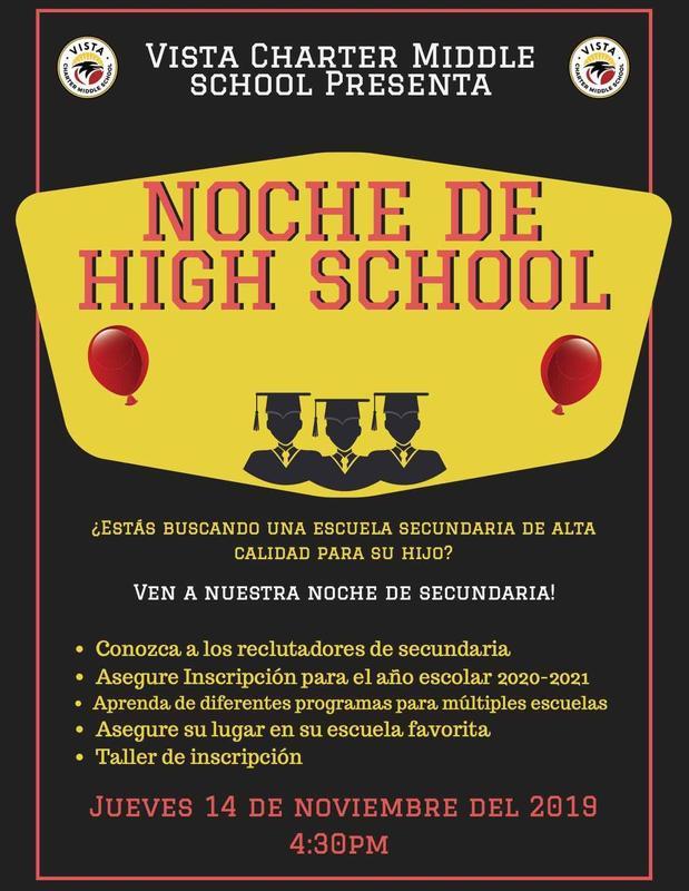 noche de high school flyer