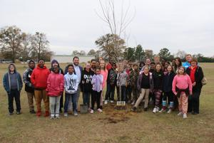 Lexington Soil and Water Conservation District Plants Tree at B-L Elementary School