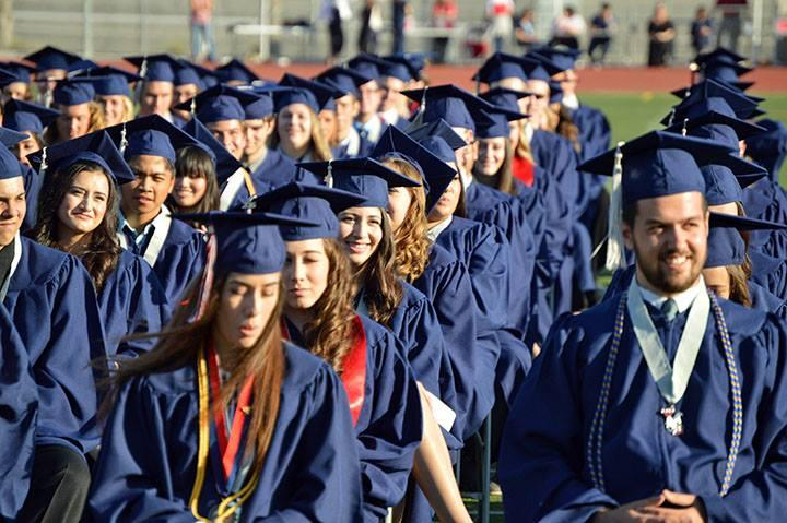 A group of students at graduation