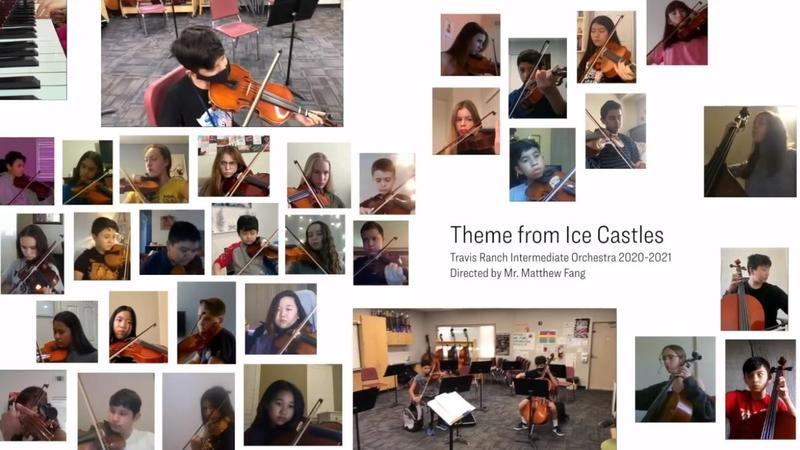 Orchestra Students Playing.