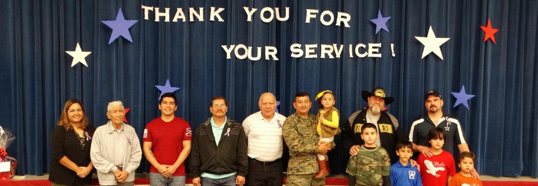 Honoring our Veterans at the Veterans Day Program