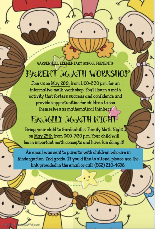 K-2 Parent/Student Math Workshops Featured Photo