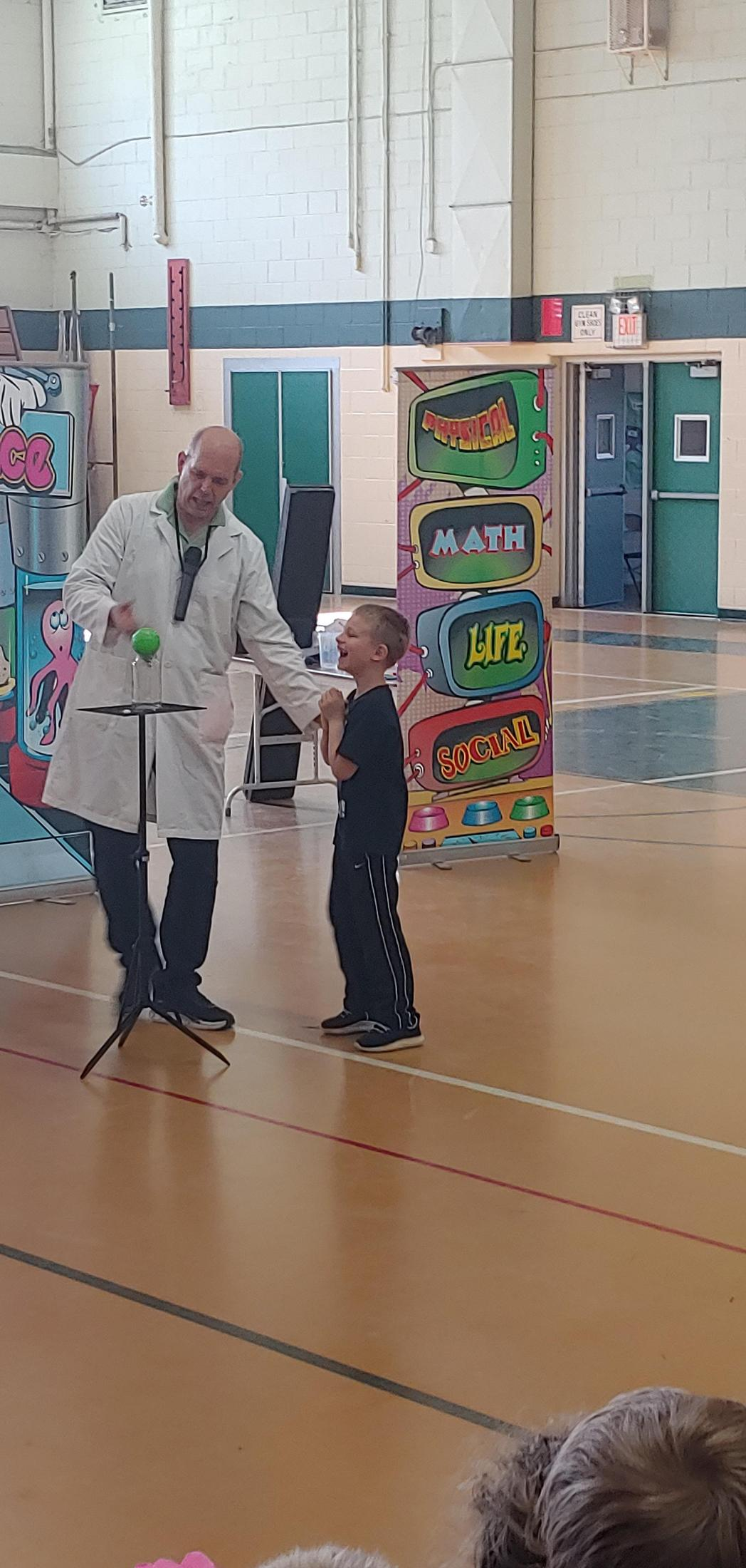 Student at Wacky Science Show