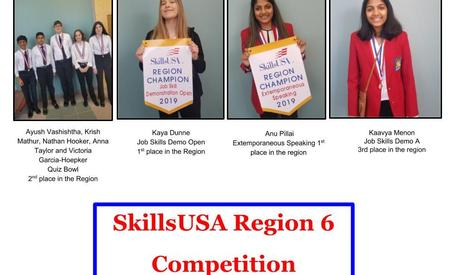 Picture of winners at SKILLS USA