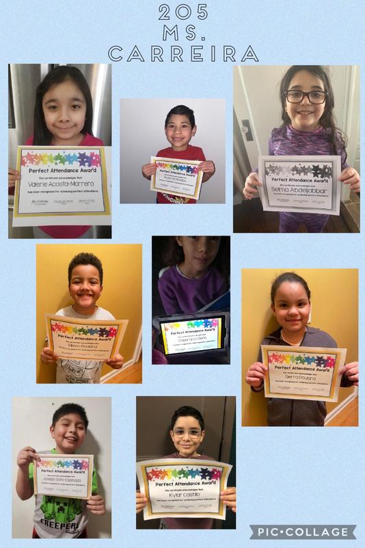Room 205 Perfect Attendance collage