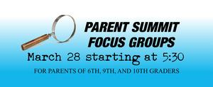 Summit Learning Parent Focus Groups March 28