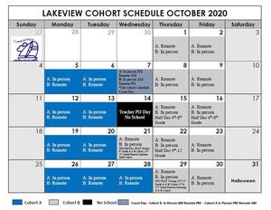 Oct Cohort Schedule