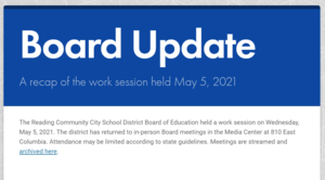 Image of the front cover of the Board Update
