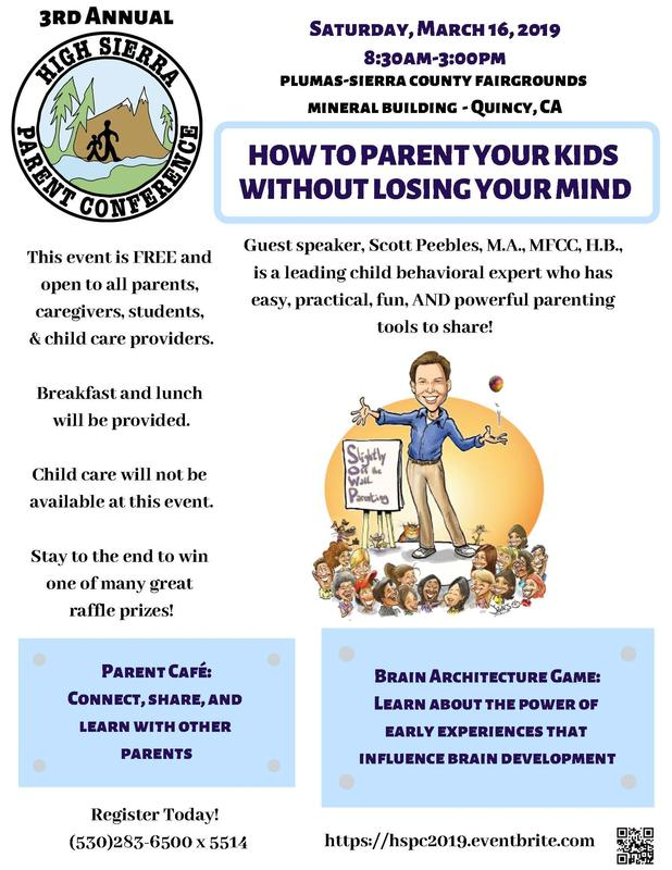 High Sierra Parent Conference flyer