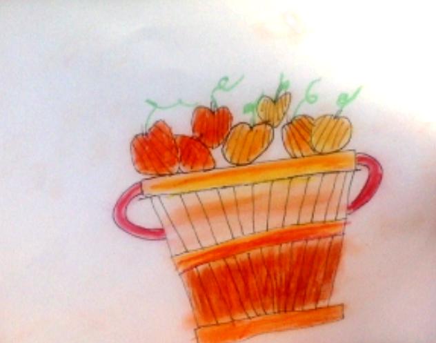 pumpkins in a basket