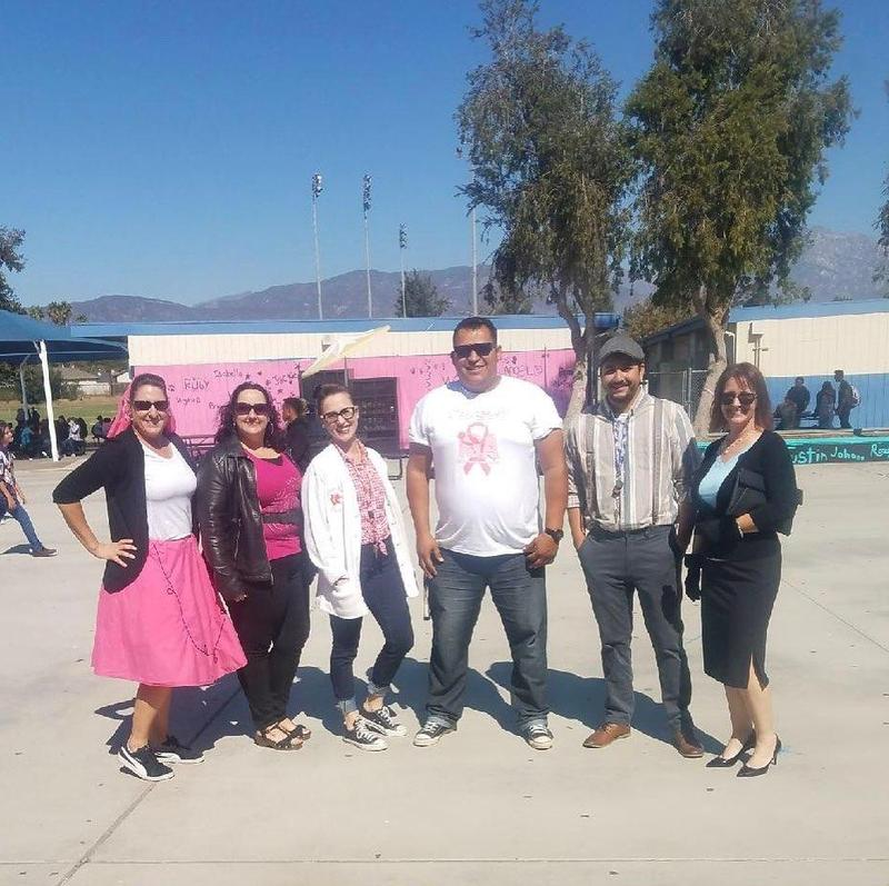 Breast Cancer Awareness Week! Check out what we have planned and come dressed accordingly. Monday - Put Cancer to Sleep (pajama day) Tuesday - Fighting Through the Decades (dress in your favorite decade) Wednesday - Pink Out! Thursday - Cancer is No Paradise (Tropical) Friday - Fight Against Cancer (Superhero Day)