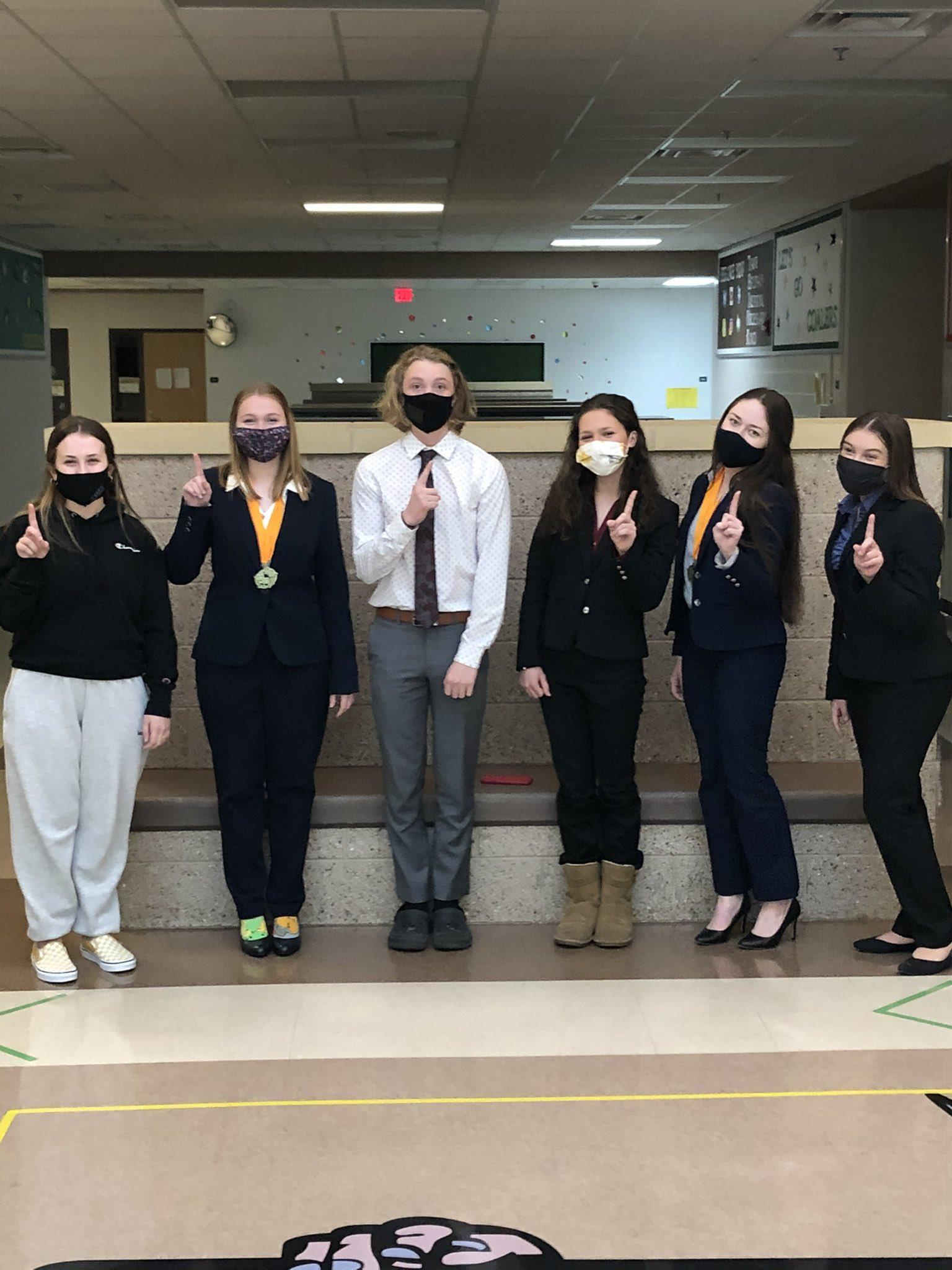 students in masks at the state competition.