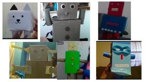 Homemade robots collage