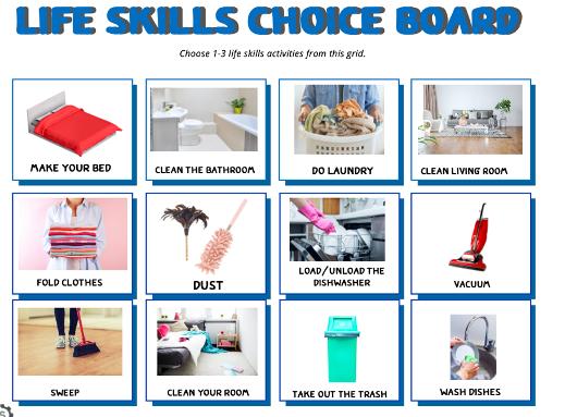 Life Skills Choice Board