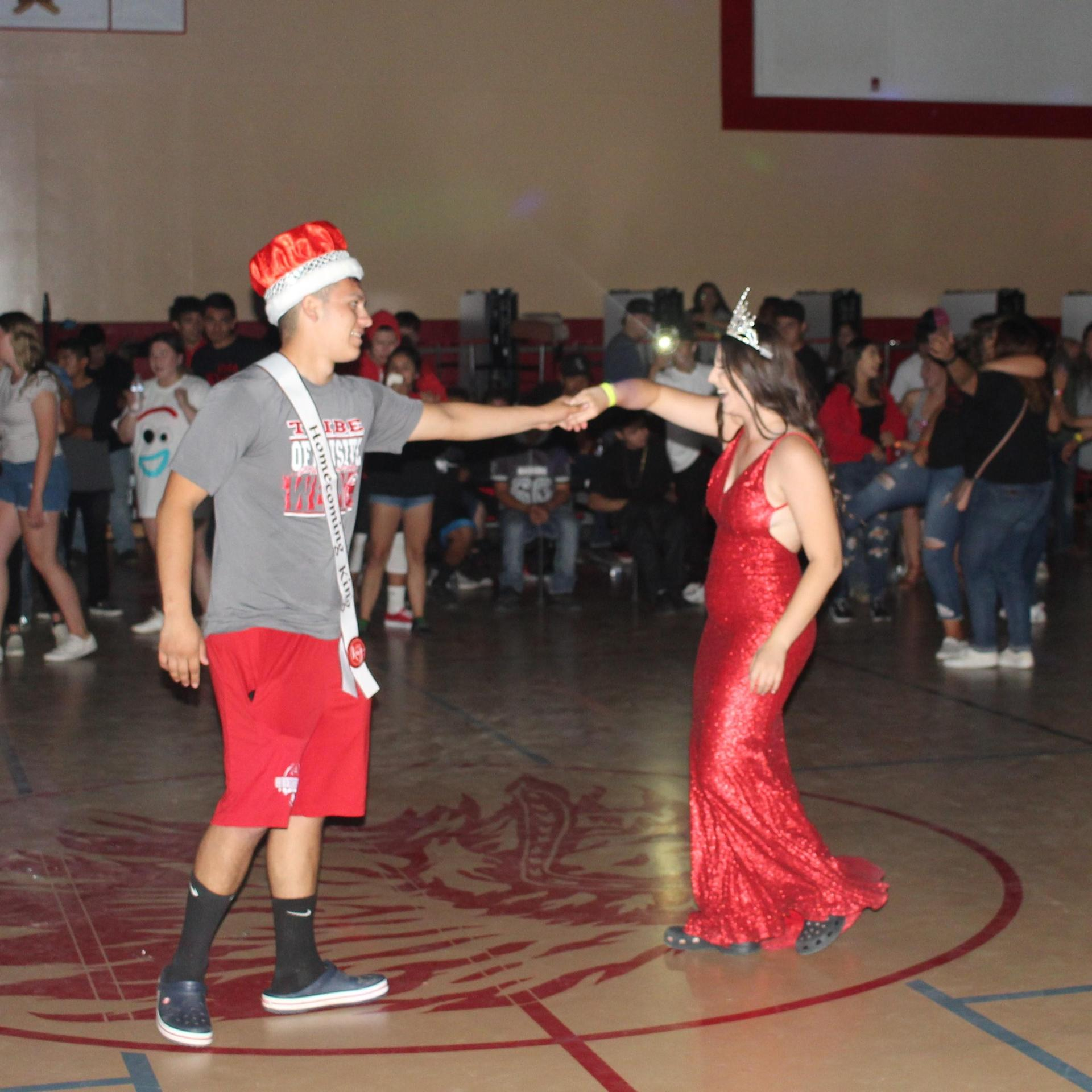 Student at the Homecoming dance