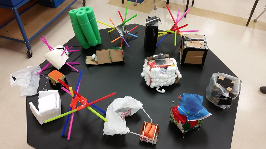 6th Graders' Egg Drop in Science Class (2018)